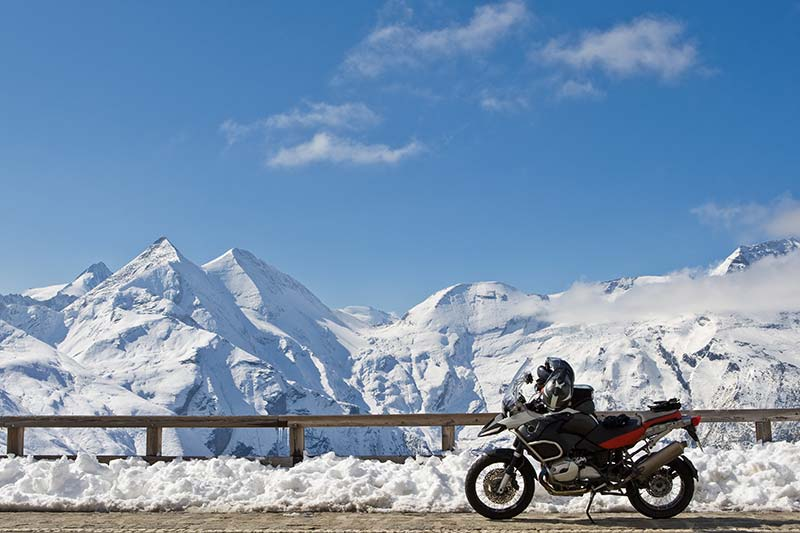Großglockner mit Motorrad
